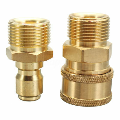"M22 X 3/8"" 14.8mm Quick Release Pressure Washer Hose Coupling Fitting Connector"