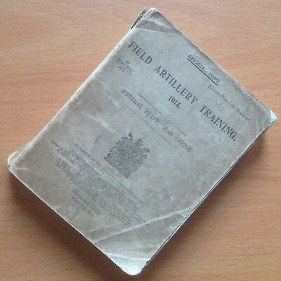 Original Wwi British Field Artillery Training Manual, Incl. Ammunition & Tactics