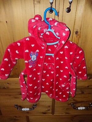 Babys Minnie Mouse Dressing Gown 9 12 Months
