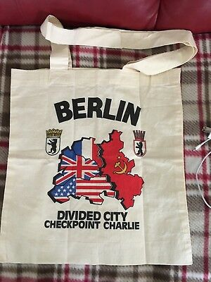 Berlin Germany Checkpoint Charlie Tote Bag New/Never Used