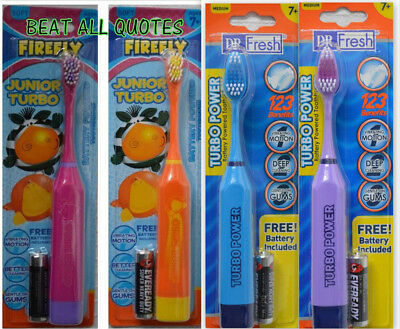 Childrens Electric Battery(INCLUDED)PoweredToothbrush Vibrating Kids Boys Girls