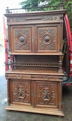 Antique Stunning 19Thc French Carved 4 Piece Buffet Sideboard From Coutances