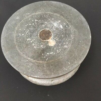 """Small Vintage Metal Potters Manual Clay Pottery Turntable Wheel disco 7"""""""