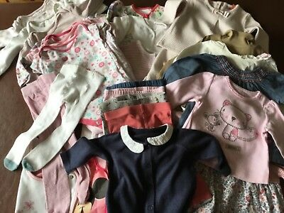 Baby Girl Clothes Bundle Age 3-6 months -30 items