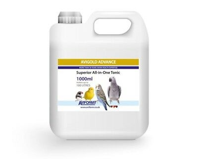 1000mls Avigold Advance, All-in-One Caged Bird & Parrots Supplement Tonic.