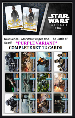 Topps Star Wars Card Trader Rogue One The Battle Of Scarif [Set 12 Cards] Purple