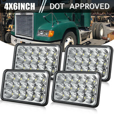 4pcs LED Headlights For Kenworth T400 T800 T600 W900B W900L Classic 120/132 Bulb