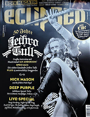 Eclipsed Nr. 203 (September-2018) incl. CD 50 Jahre Jethro Tull