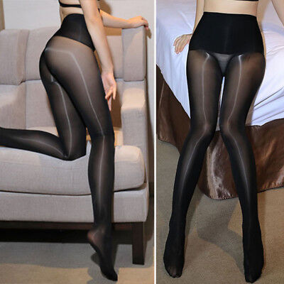 High Waist Women Glossy Pantyhose Seamless Super Shiny Tights Stretchy Stockings
