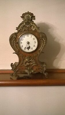 Antique Mantel Clock  Lenzkirck Movement