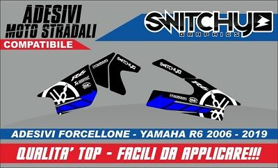KIT Adesivi Stickers RACETRACK PROTEZIONE FORCELLONE YAMAHA YZF R6 2006 2019