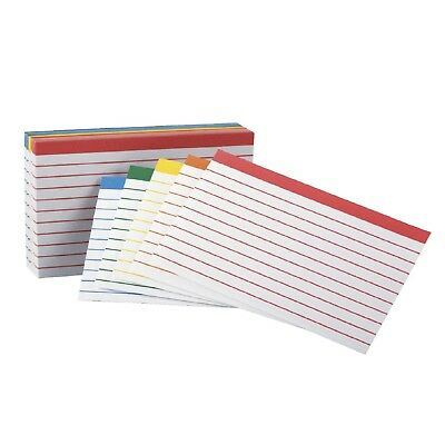 Esselte Pendaflex Oxford Color Ruled Index Card 3X5 in Assorted Color pack 100