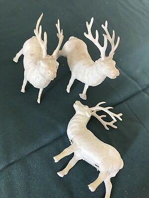 Vintage Celluloid Christmas Reindeer Set of 3 (34)