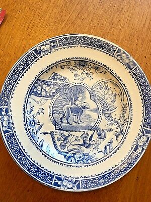 Allerton Mae and Dog Transfer Ware Child's Plate