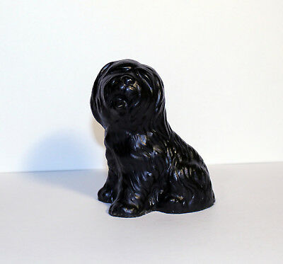 Classique Dog Sculpture Made with Coal, Made in Great Britain, Puli Dog Figure