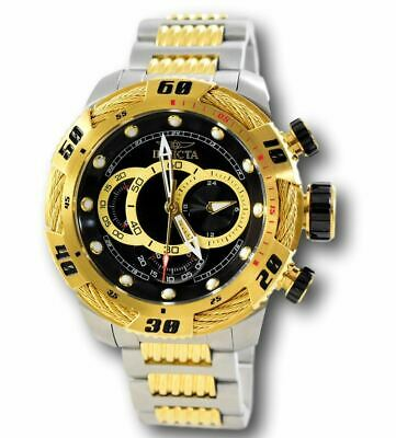 Invicta Bolt Speedway 25481 Men's Black Dial Gold Stainless Chronograph Watch