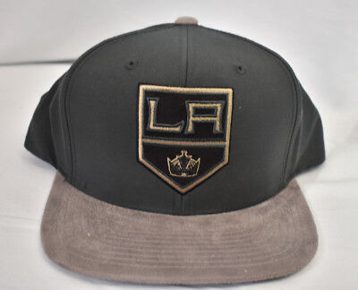 buy online 81137 57955 Mitchell   Ness NHL Los Angeles Kings Buttery Snapback Hat Cap New NWT