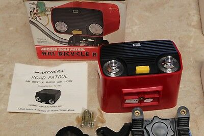 Archer Road Patrol Vintage Bicycle AM Radio With Horn Box and Papers