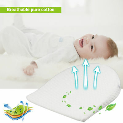 Baby Safety Memory Resilience Foam Flat Wedge Pillow Cot Bed Anti Reflux Pillow