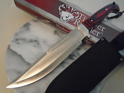 Timber Rattler Blood Moon Bowie Hunter Combat Knife 4mm Full Tang 3Cr13 TR169