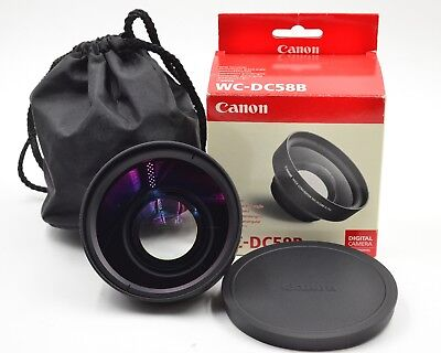 Canon WC-DC58B 0.75x Wide Angle Converter Lens For PowerShot Series   (564)