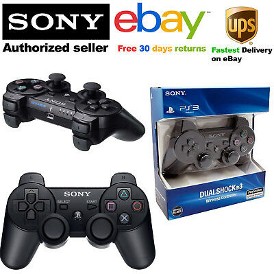 Sony Sixaxis Playstation 3 Wireless Bluetooth Ps3 Controller In Black