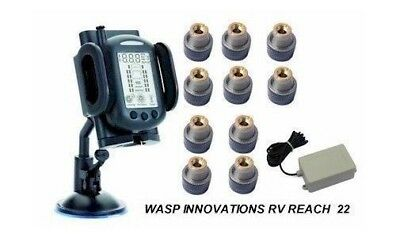 RV TPMS Tire Pressure Monitoring System Motorhome & Tow  for 10 wheels + Booster