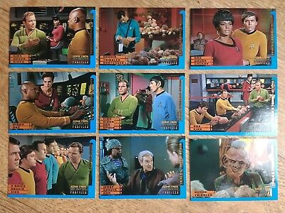 Star Trek Deep Space 9 Profiles Complete Set of 9 Trials & Tribble-ations cards