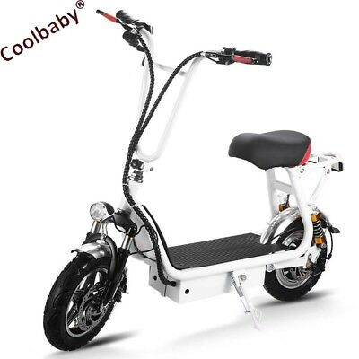 COOLBABY 350w/36v Foldable Mini City Coco Electric Motorcycle Ebike Scooter NEW