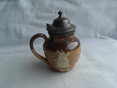 Vintage Royal Doulton Small Miniature Jug Pot With Hinged Lid