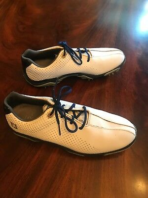 dbb20cbb3865 FOOTJOY Size 6 6M 45023 Blue   White Lace Up Sport Golf Shoes BOYS Junior  Mens