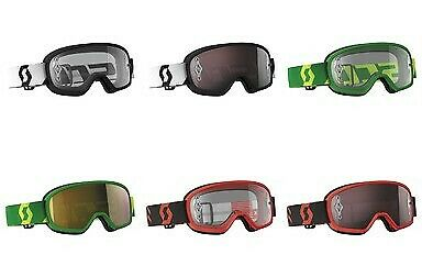 Scott Youth Buzz MX Pro Offroad Motorcycle/Dirtbike Motocross Riding Goggles