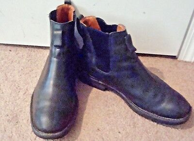 TIMBERLAND, MEN'S 11 M, Chelsea Ankle Boots, Black Leather, Pull On, Vgc!