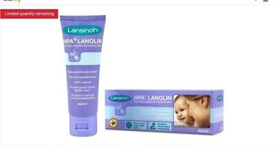 Lansinoh HPA Lanolin Cream for Sore Nipples and Cracked Skin 40ml + pads