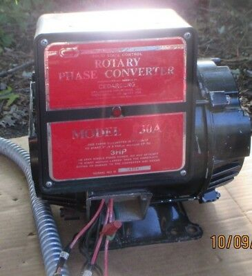 Rotary Phase Converter was for PIPE ORGAN BLOWER 3hp 1 to 3 phase Shipping Avail