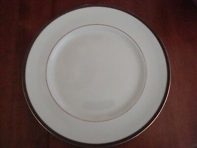 Royal Doulton Oxford Black Dinner Plate Black Gold Rim EUC