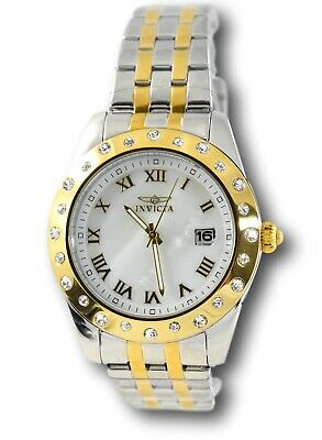 Invicta Angel 18981 White Crystals Mother of Pearl Women's Gold Stainless Watch