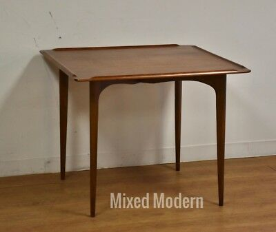 Walnut Mid Century Danish Dinette or Game Table