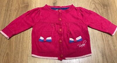Ted baker baby Girl Cerise fushia pink cardigan age 3-6 months *Will combine P&P