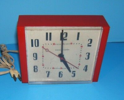Mid Century Wall Clock 1950's 60's Ge General Electric Vintage Telechron  2H38