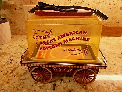 Popcorn popper Maker American Dining Bar vintage Sunbeam 1970's TV Rt 66 Vintage