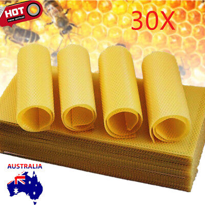 Beekeeping - 30 sheets beeswax foundation for beekeeping 195 x 415mm AU Stock