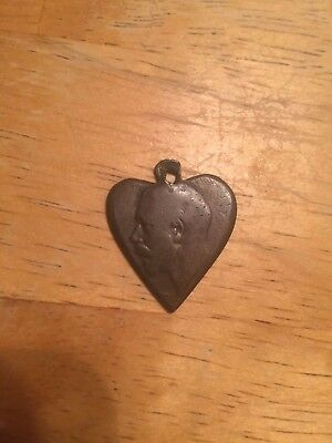 WWI British Sweetheart Necklace Charm Coin