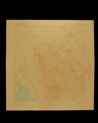 Gillis Canyon Walker Lake Nevada vintage 1966 USGS Topographical chart