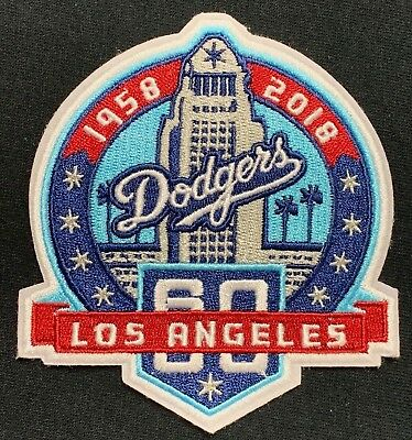 Los Angeles Dodgers 60Th Anniversary Jersey Patch Iron On La Team