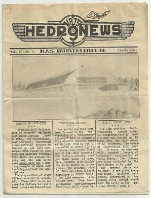 1945 WWII Camp Publication HEDR9NEWS U.S. Naval Air Station Patuxent River MD