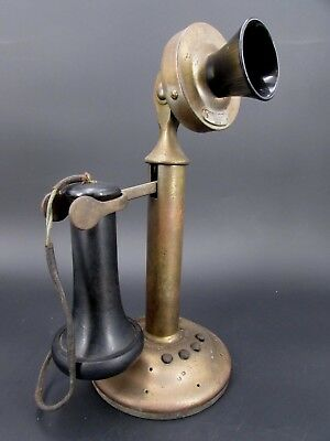"Antique Western Electric 4 Push Button Candlestick Telephone Model ""302 W"" Phone"