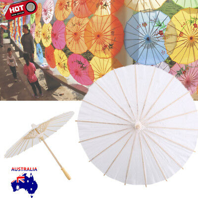 Paper Decorative Umbrella Parasol Wedding Bridal Party Decor Photo White Color