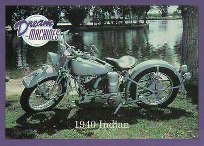 1940 Indian, Imperial Palace Coll Las Vegas Motorcycle Trading Card Not Postcard
