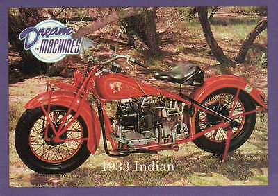 1933 Indian, Imperial Palace Coll Las Vegas Motorcycle Trading Card Not Postcard